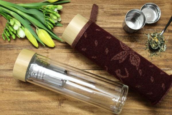 SET: Genussmomentee-Bottel mit hübschem Kleid
